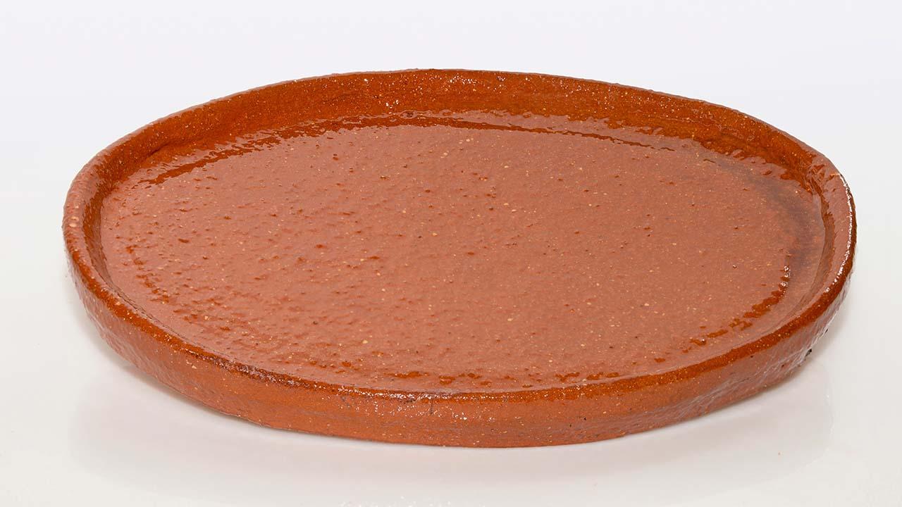 Plato ovalado de barro de pereruela deleite rural for Platos para